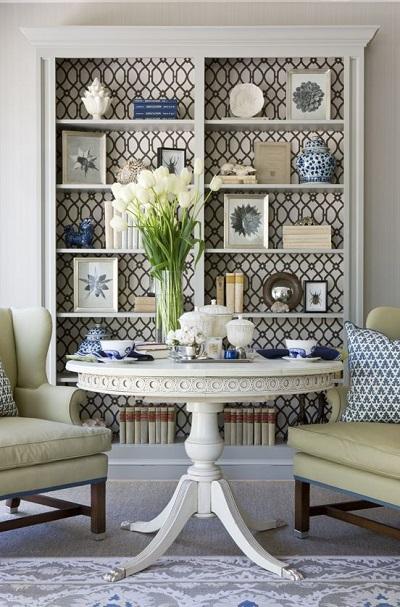 Decorar muebles con papel pintado - Tul de Seda