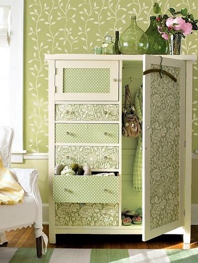 empapelar armario