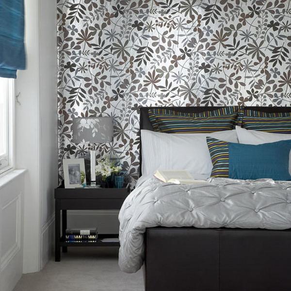 Decoraci n de dormitorios con papel pintado tul de seda for Papel de pared dormitorio
